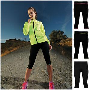 Leggings-Running-Yoga-Sports-Fitness-Gym-Capri-Womens-3-4-Pants-Exercise-Bottoms