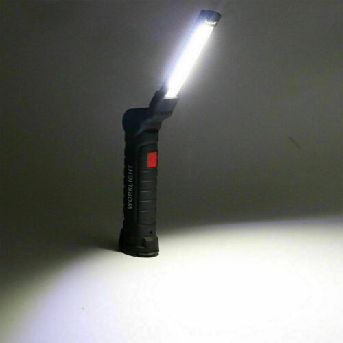 LED COB Rotate Rechargeable Work Light Magnetic Torch Flexible Inspection Lamp