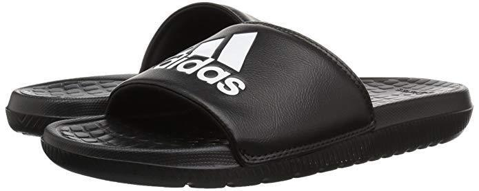 Men Adidas Voloomix Slide Sandal Black White Black 100 % Original CP9446 New