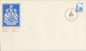 CANADA-1977-definitive-12c-Parliament-blue-unaddressed-FDC-JD1720