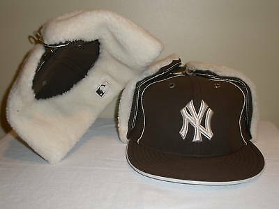 ab0a7ceb04222 New York Yankees Era 59Fifty DaBu Brown Dog Ear Fitted Baseball Hat 7 1 4