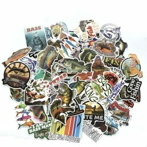 Fishing-Sticker-Bomb-Pack-Lot-Mixed-Fish-Bait-Laptop-Car-RV-Boat-Vinyl-Decals