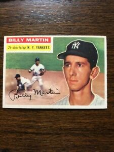 1956-Topps-Billy-Martin-New-York-Yankees-181-Original-Card-NrMt