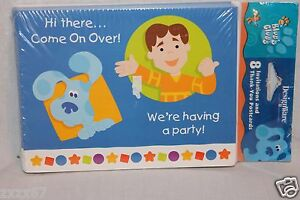 NEW BLUES CLUES SHAPES 8 LOOT BAGS  PARTY SUPPLIES