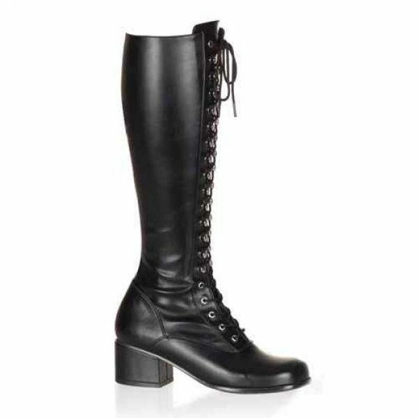 Retro-302 Stiefel Funtasma Damen Stiefel Retro-302 Stretch Lack Lederlook mit Schnürung Gr 36-45 054dd2