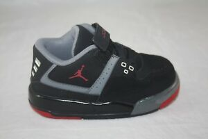 7edfcf295827 TODDLER JORDAN FLIGHT 23 BT 317823-021 BLACK GYM RED-COOL GREY SIZE ...