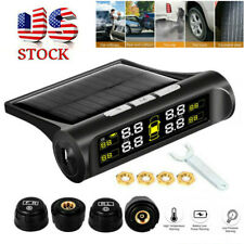 TPMS Car 12V LCD Wireless Tire Pressure Alarm Monitor System 4 External Sensor