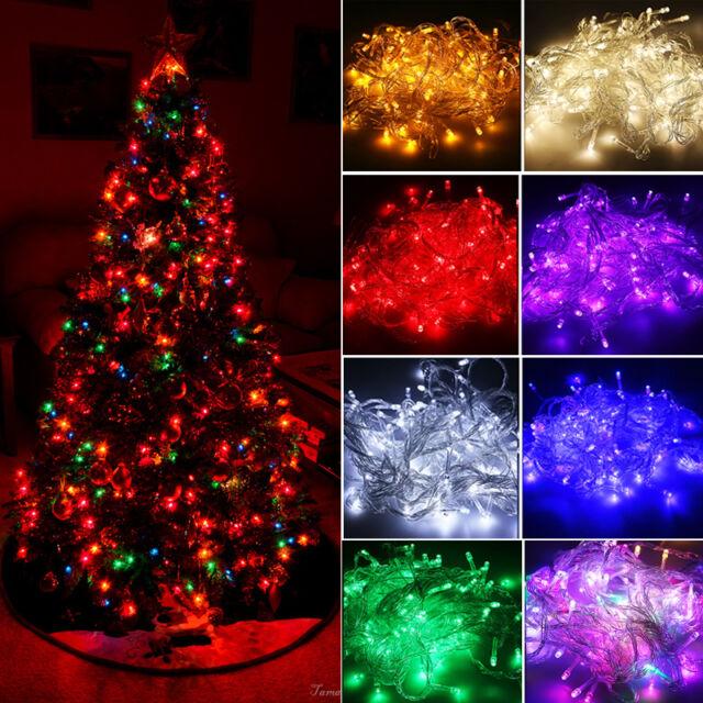 100 200led Fairy String Lights Christmas Xmas Party Holiday Outdoor Garden Decor