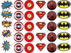 30 Marvel Dc Superhero Logos Callouts Edible Icing Rice Paper