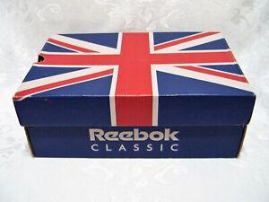 Vintage Reebok Empty Shoe Box Uk Flag Logo Women S Classic Princess Ebay