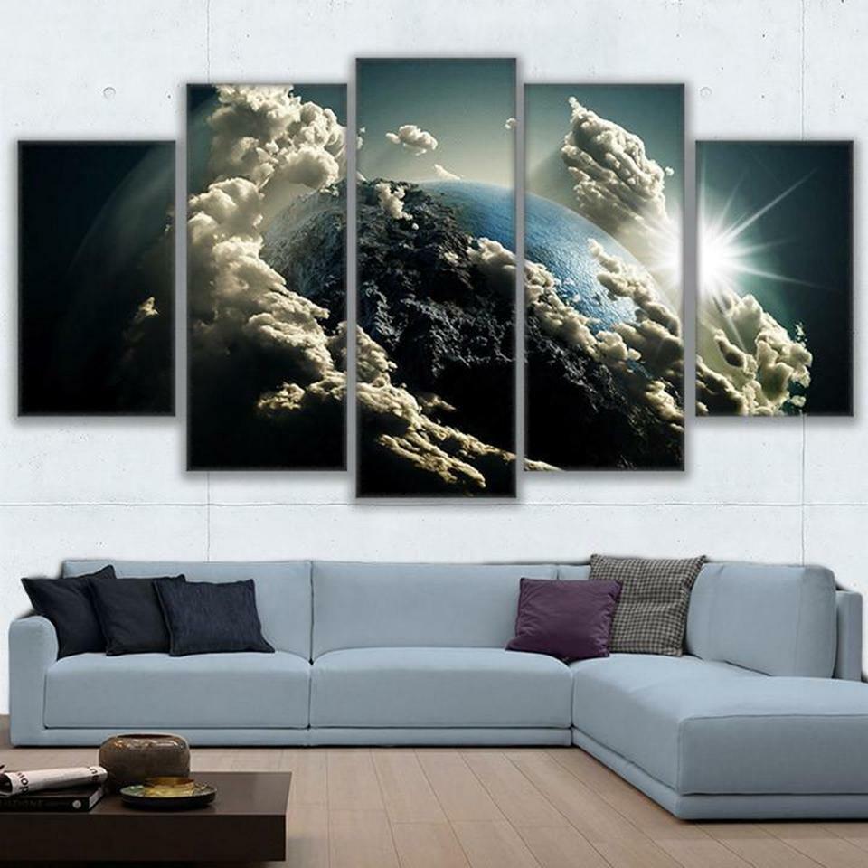 Majestic Earth Cloud 5pcs Poster Canvas Wall Decor Home Decor Canvas Print