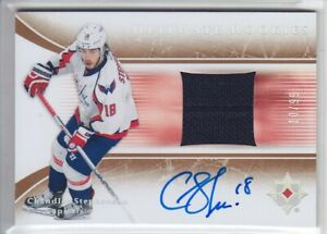2015-16-UD-ULTIMATE-CHANDLER-STEPHENSON-RC-AUTO-JERSEY-99-RETRO-ROOKIE-Capitals