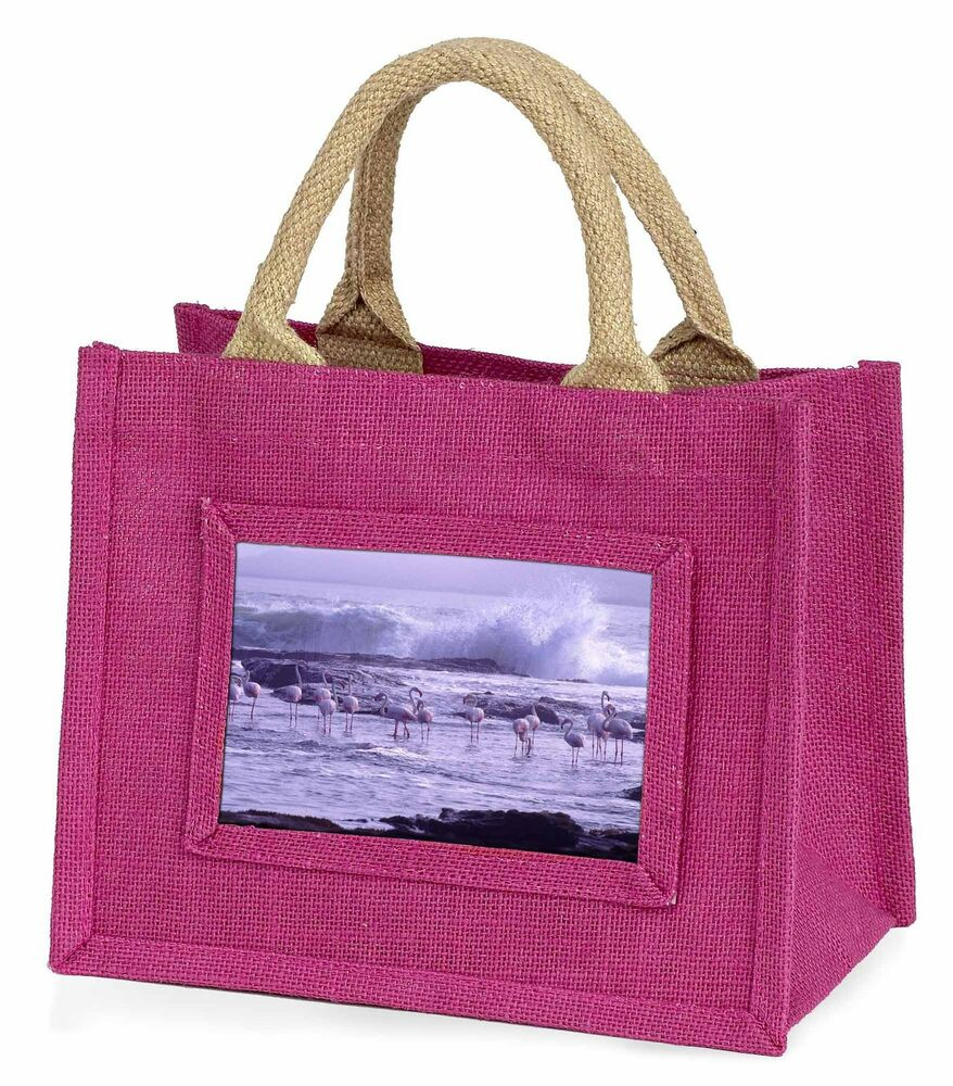 Site Officiel Pink Flamingo On Sea Shore Little Girls Small Pink Shopping Bag Christ, Ab-52bmp Gamme ComplèTe D'Articles