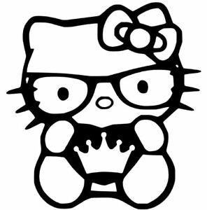 HELLO-KITTY-PRINCESS-DECAL-4-034-vinyl-car-window-sticker-13-COLORS