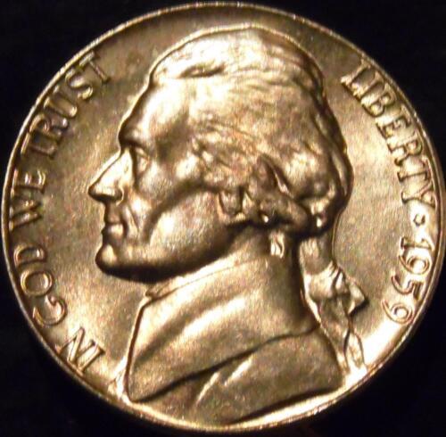 1959-P Jefferson Nickel Gem BU Uncirculated Full Steps