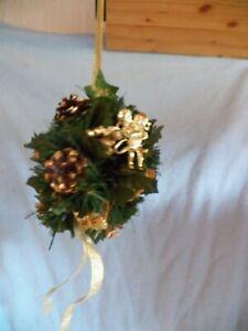 Efeu Künstlicher Weihnachtsstrauß gold Christstern Engel Tannenzweige