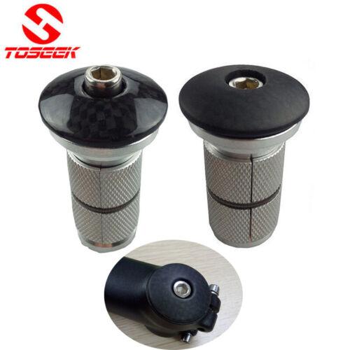 """Carbon Top Cap for 1-1//8"""" Fork Bicycle Headset Stem Expander Plug //Compressor"""