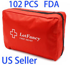 102 Piece First Aid Kit Emergency Medical Bag Home Car Outdoor Hiking Survival