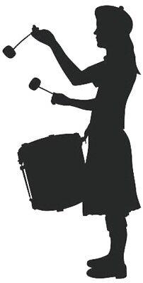 scottish pipe band leader silhouette scotland bands vinyl wall art sticker car