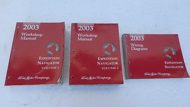 2003 Ford Expedition Navigator Service Shop Manual Set