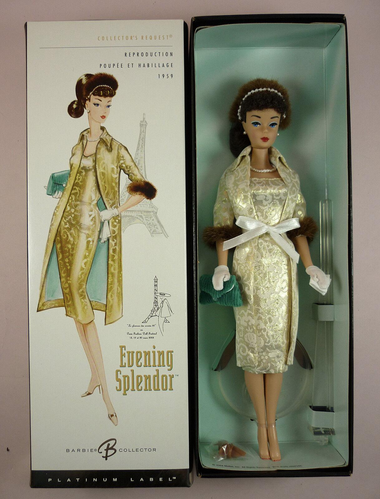 Noche esplendor Barbie-Platinum Edition nostálgico reproducción REPRO-nunca quitado de la caja