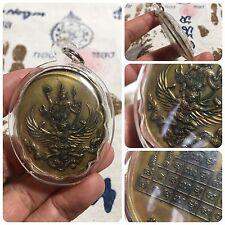 Angel Riding Krut Garuda Naka Snake Maha Yant Thai Amulet Luck Rich Protect