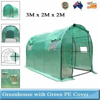 Garden Greenhouse Walk-in Green Hot Plant House Shed Storage Pe Cover Arc Roof