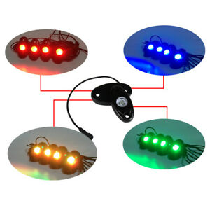 4Pcs-RGB-LED-Rock-Lights-Wireless-Bluetooth-Music-Flashing-Offroad-Multi-Color