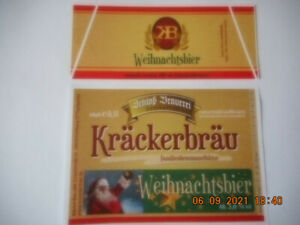 bieretikett braumanufaktur kräckerbräu frohburg/SN weihnachtsbier unbenutzt
