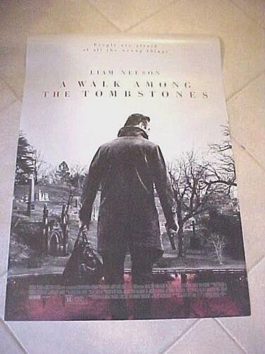 A WALK AMONG THE TOMBSTONES- Original 2014 Movie Poster   27x40