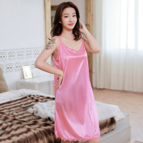 Women Nightgowns Sleepwear Nightwear Lace Sleeping Dress Pajamas Night Dre CJ
