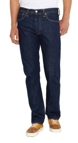 Levis 501 Original Fit Classic Straight Leg Button Fly Jeans One Wash W40  L34 2b12a51702