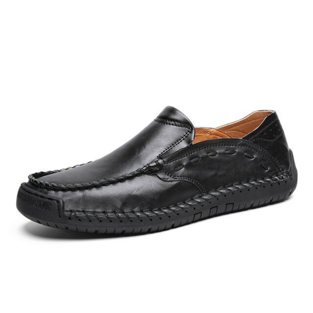 Cowhide Leather Slip on Driving Loafers