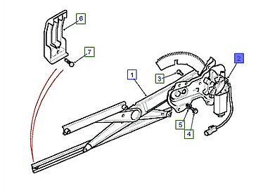 LAND ROVER GENUINE WINDOW REGULATOR MOTOR LHF//LHR Discovery 1 /& 2 CUR100450