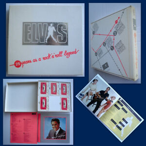 ELVIS-PRESLEY-25-YEARS-AS-A-ROCK-039-N-039-ROLL-LEGGEND-BOX-5MC-BOOKLET-EXCELLENT