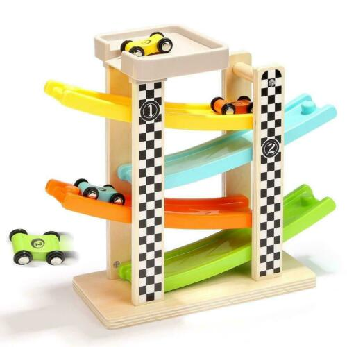 Top Bright -Wooden Racing Track Toy, Multi-Colour, 30 x 10 x 27 cm-Andreas Toys