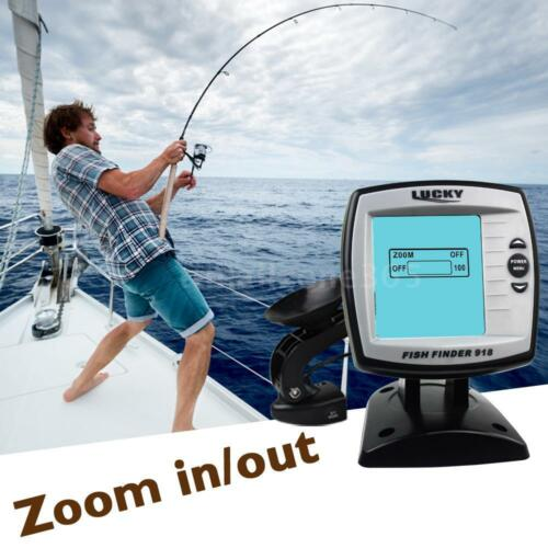 45° Angle 100m Fish Finder Combo Depth Finder Sonar Marine Navigation Tools O9U0
