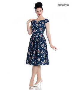 Hell-Bunny-50s-Nautical-Blue-Dress-SALINA-Oceana-Pin-Up-Rockabilly-All-Sizes
