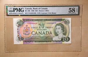 Canada-BC-50b-1969-20-Lawson-Bouey-S-N-YG5594429-PMG-58-EPQ