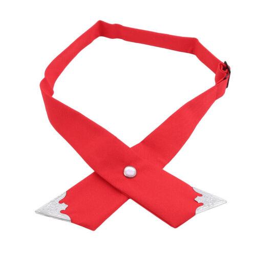 Colorful Cross Bow Tie Necktie Cravat Adjustable Unisex Bowtie Dress Decor LE
