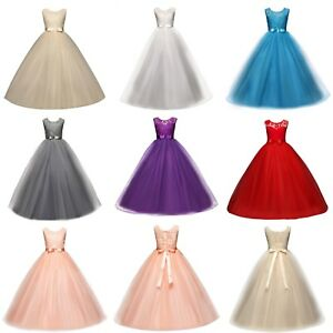 Girls-Ball-Gown-Dress-Wedding-Princess-Bridesmaid-Party-Prom-Birthday-for-Kids