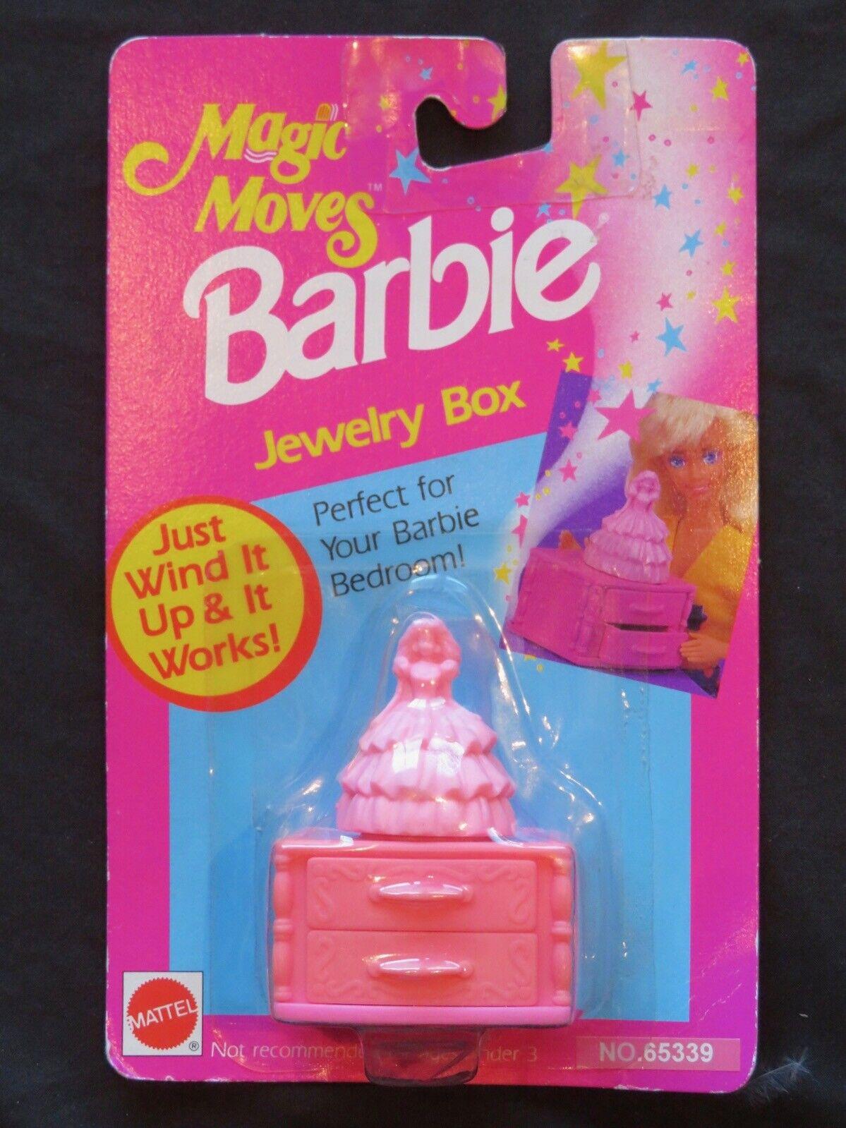 Nuevo 1992 Barbie Magic Moves rosado Caja de joyería 65339