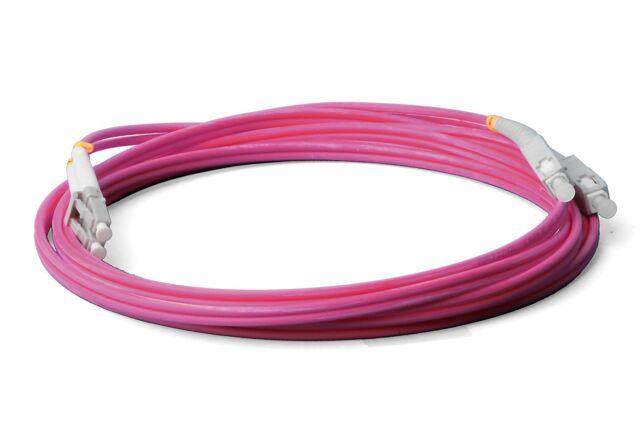 LWL LC SC Patchkabel, violett OM4, Duplex 50/125, 0,5m Lichtwellenleiter