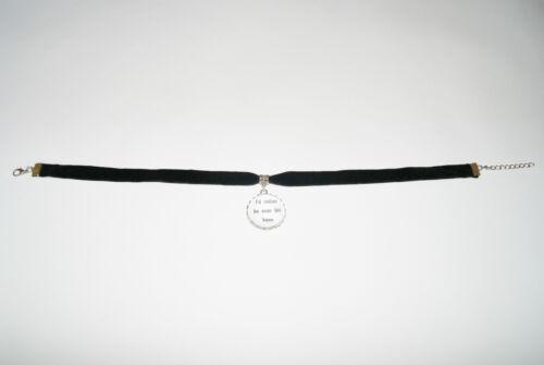 /'Over his knee/' Black Velvet Choker Necklace Jewellery Fetish Bondage Collar