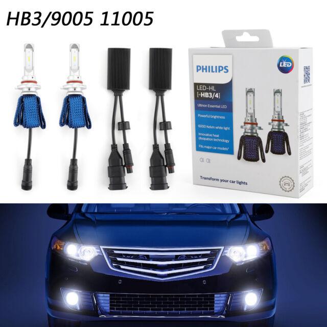 Philips Ultinon LED Kit 6000K White HB3/4 Two Bulbs Head Light Dual Beam BS4