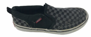Vans Slip On Athletic Youth Shoes SZ 2.5 TB4R Black Checkered