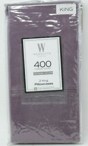 Wamsutta-400-Thread-Count-100-Cotton-King-Pillowcases-in-Purple-Set-of-2