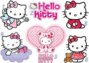 Hello Kitty Iron On T Shirt Fabric Transfer Or Stickers