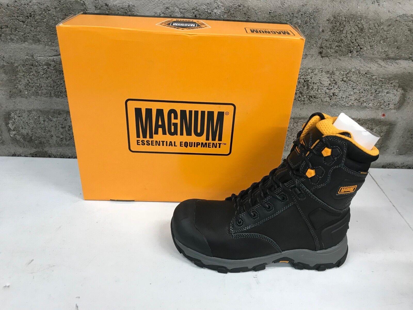 Magnum Hamburg 8.0 Sicurezza Impermeabile COMPOSITO Stivali Lavoro in Pelle Pelle Pelle Nera b20ea1