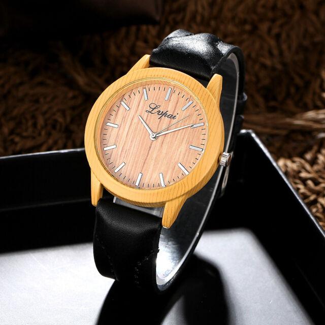 LVPAI Women Fashion Watch Analog Leather Quartz Round Case Casual Wrist Watches